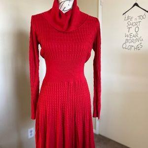 Playful red dress